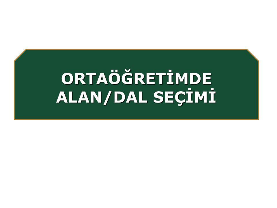 ORTAÖĞRETİMDE ALAN/DAL SEÇİMİ