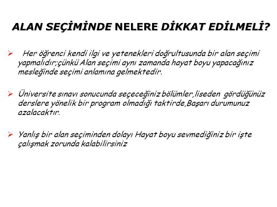 ALAN BELİRLEME İŞLEMLERİ  10.