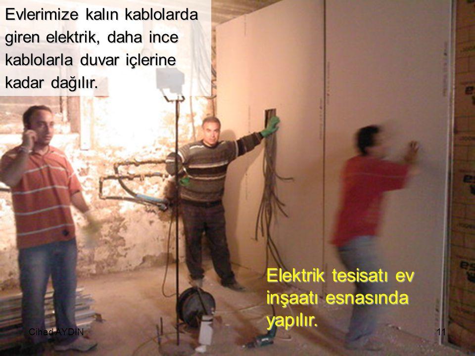 Cihad AYDIN10 RÜZGAR ENRJİSİNDEN ELEKTRİK ENERJİSİ ELDE EDİLMESİ