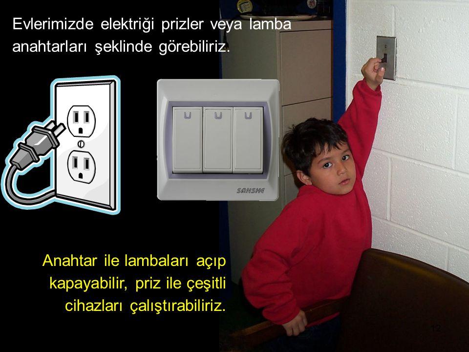 Evlerimize kalın kablolarda giren elektrik, daha ince kablolarla duvar içlerine kadar dağılır.