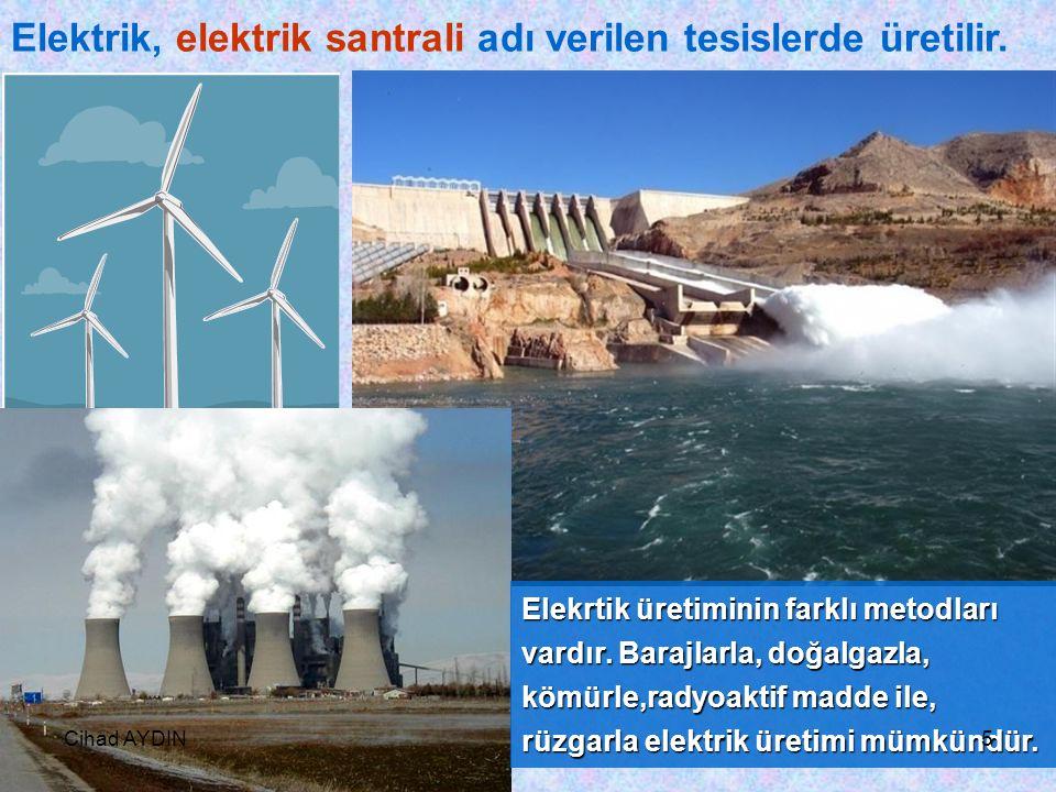Cihad AYDIN4 Elektrik Enerjisi Nasıl Ta ş ınır? EElektrik enerjisi evlerimize, fabrikalarımıza, okulumuza ve i ş yerlerimize kablolarla ta ş ınır. 