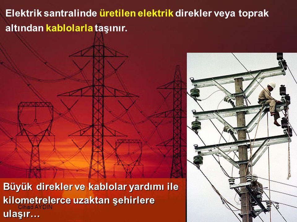 Elektrik, elektrik santrali adı verilen tesislerde üretilir.