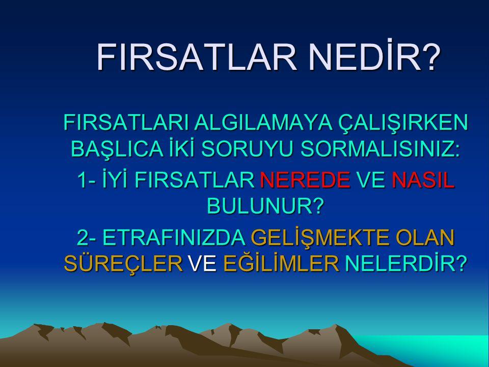 FIRSATLAR NEDİR.