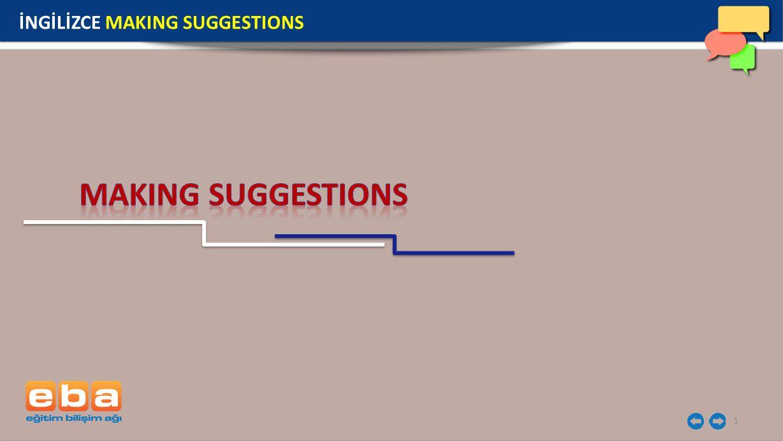 2 MAKING SUGGESTIONS Bu yapılar öneride bulunurken kullanılır.