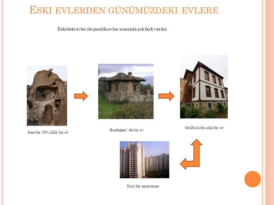 DEKORASYON Yeni evlerde,balkonlarda camlar kullanılmıştır(dekorasyon olarak).