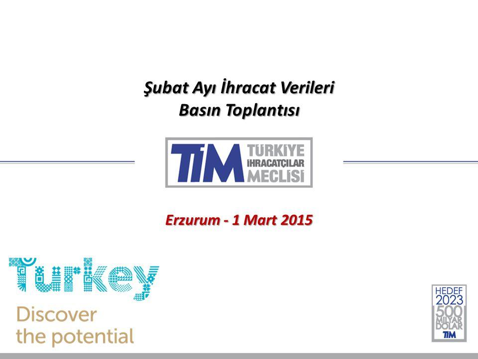 Şubat Ayı İhracat Verileri Basın Toplantısı Erzurum - 1 Mart 2015