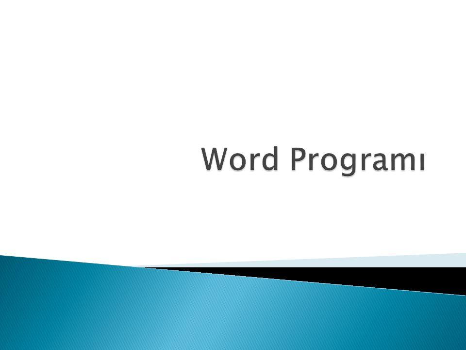 Word programında ENTER tuşu yeni bir paragrafa başlarken kullanılır.