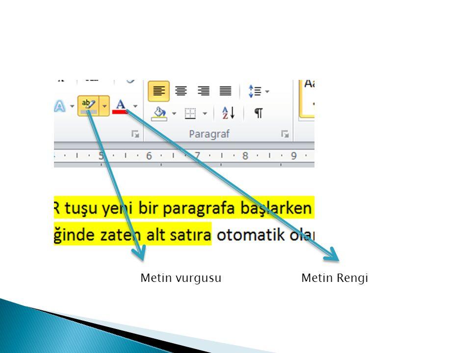  Biçimlendirilmiş metinlerin özelliklerinin belgenin farklı noktalarında kullanılabilmesini sağlar.