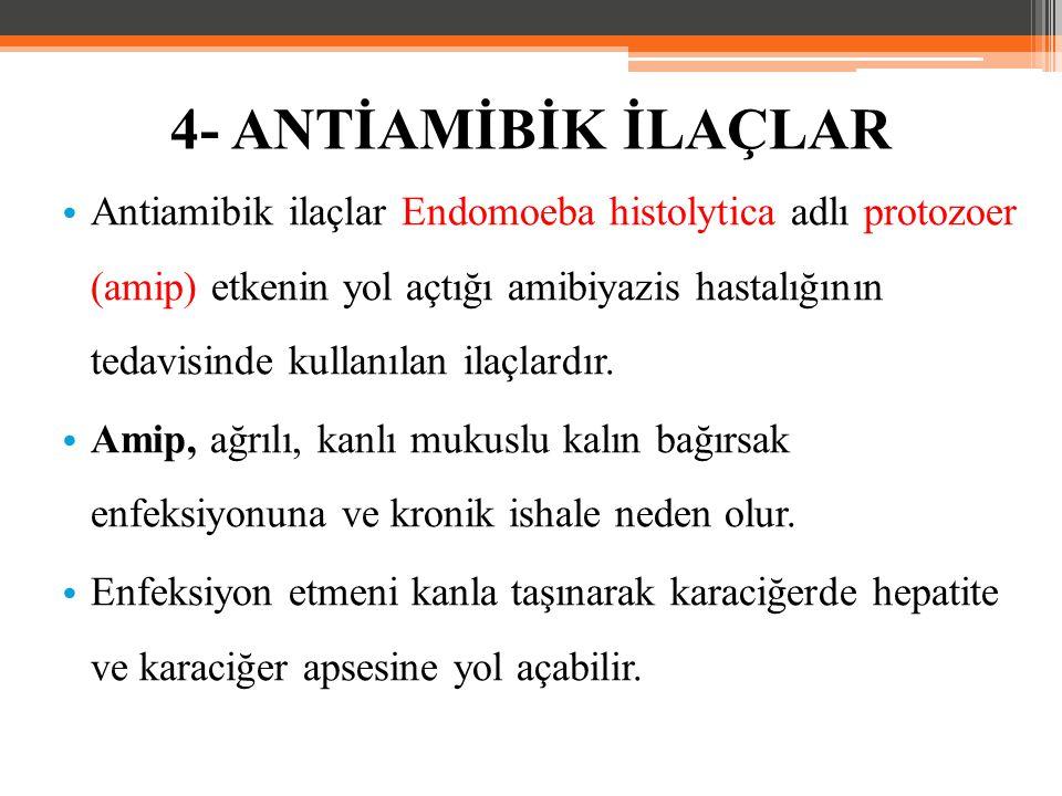 Antiamibik ilaçlar Endomoeba histolytica adlı protozoer (amip) etkenin yol açtığı amibiyazis hastalığının tedavisinde kullanılan ilaçlardır. Amip, ağr