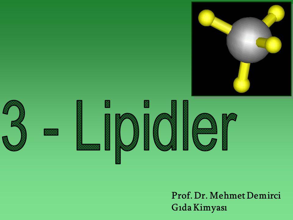Prof. Dr. Mehmet Demirci Gıda Kimyası
