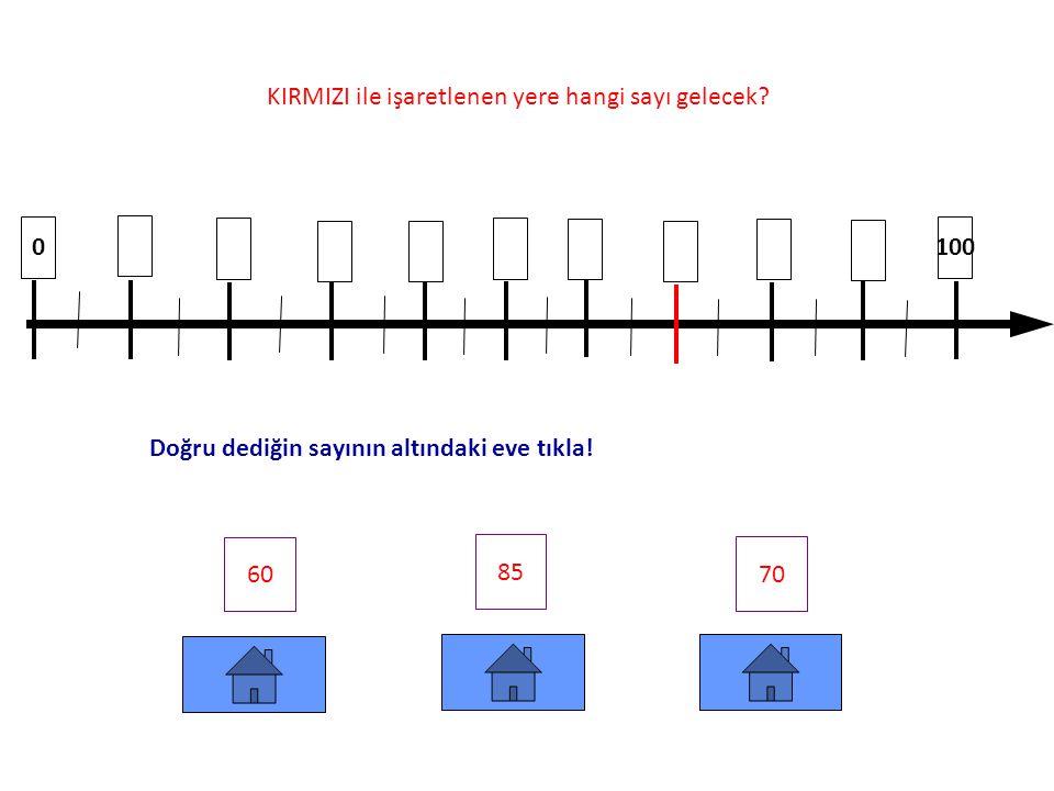 10 80 90 100 65 73 78 KIRMIZI ile işaretlenen yere hangi sayı gelecek.