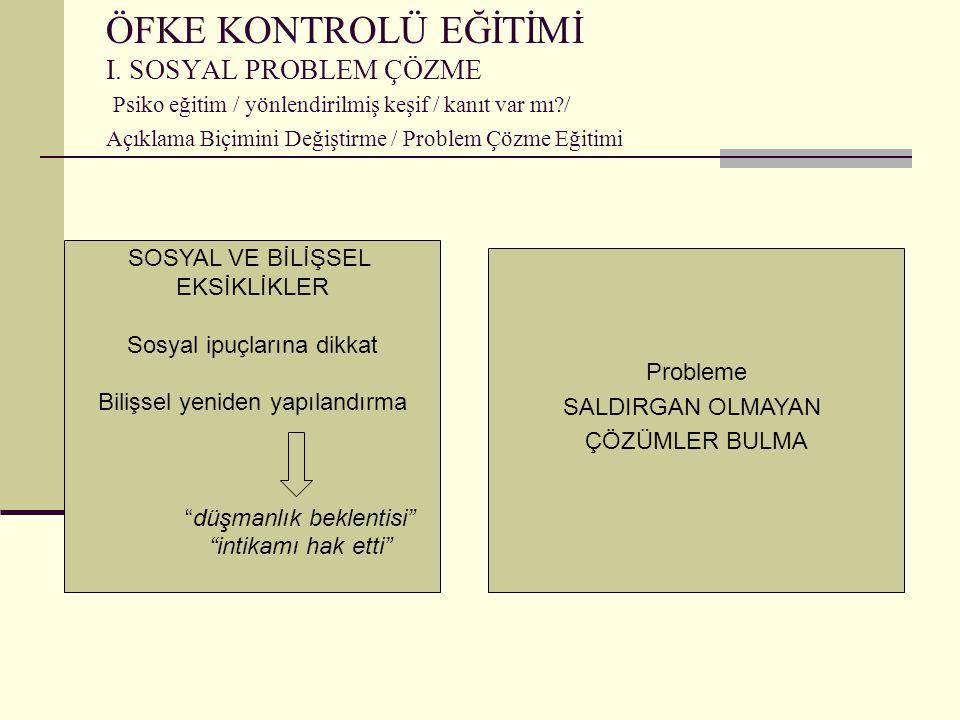 ÖFKE KONTROLÜ EĞİTİMİ I.