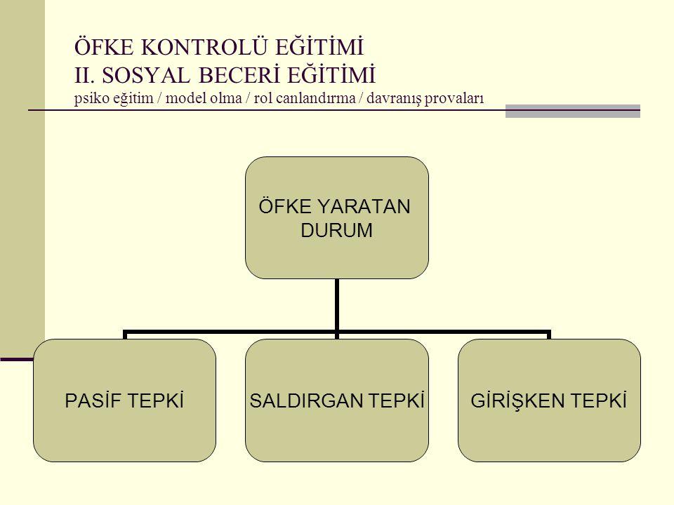 ÖFKE KONTROLÜ EĞİTİMİ II.