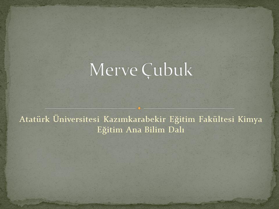 Atatürk Üniversitesi Kazımkarabekir Eğitim Fakültesi Kimya Eğitim Ana Bilim Dalı