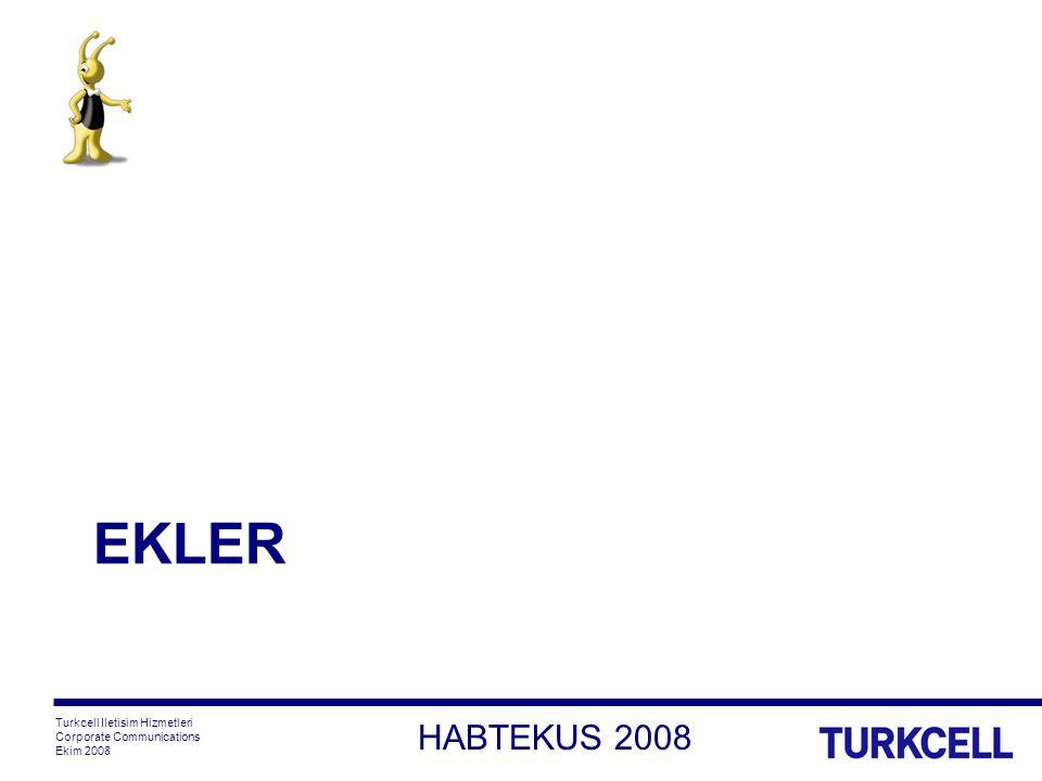 HABTEKUS 2008 Turkcell Iletisim Hizmetleri Corporate Communications Ekim 2008 EKLER
