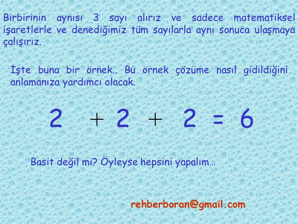 Matematikle ve onun öğrendiğimiz basit işlemleri ile, nasıl sonuca gidebileceğimize bir örnek verelim. rehberboran@gmail.com