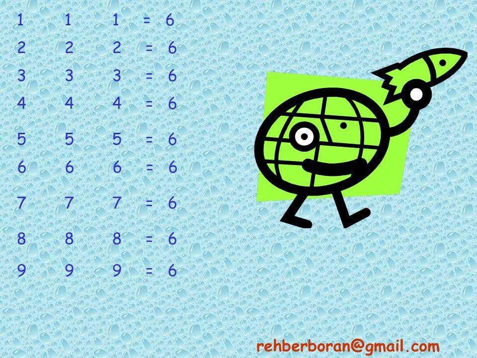 111 = 6 222 = 6 333 = 6 444 = 6 555 = 6 6 6 6 = 6 777 = 6 888 = 6 999 = 6 rehberboran@gmail.com