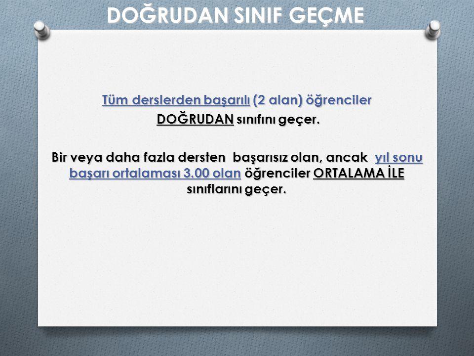A) Her dersten başarılı olma durumu Dersin AdıDers Saati I.Dönem Notu II.Dönem Notu Yıl Sonu Notu Ağırlık Türk Edebiyatı32226 Din Kült.