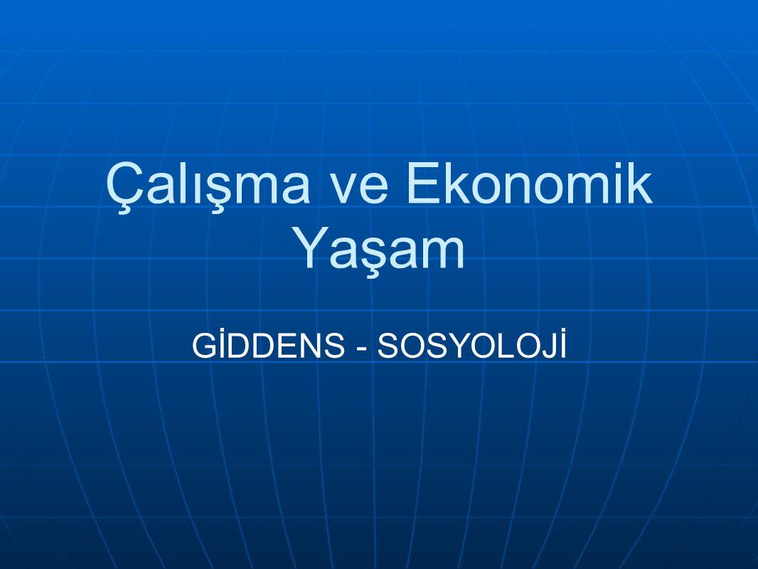 GİRİŞ Bu bölüm, modern toplumda çalışmanın gelişmesini incelemekte ve modern ekonomilerin yapısına bakmaktadır.