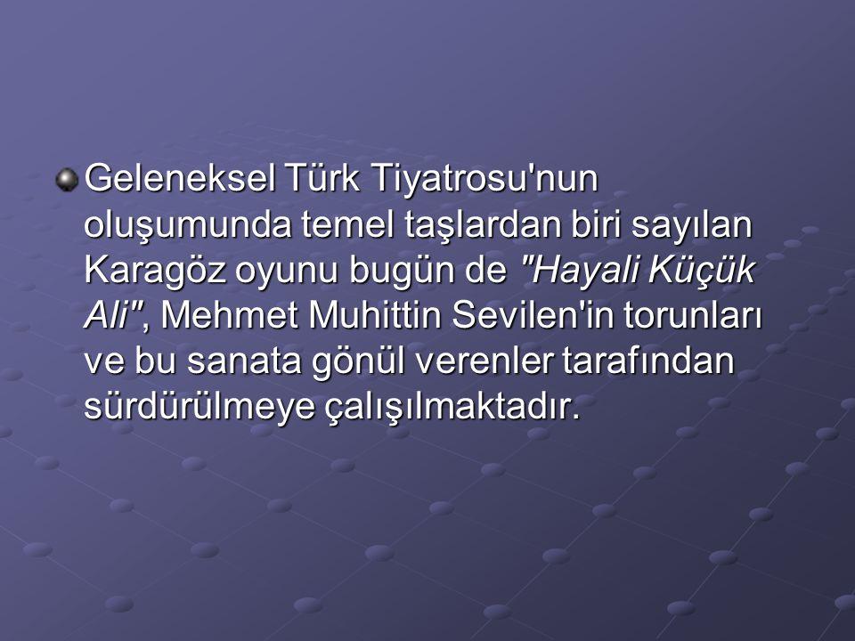 Geleneksel Türk Tiyatrosu'nun oluşumunda temel taşlardan biri sayılan Karagöz oyunu bugün de