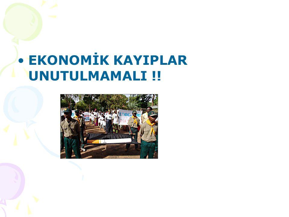 EKONOMİK KAYIPLAR UNUTULMAMALI !!