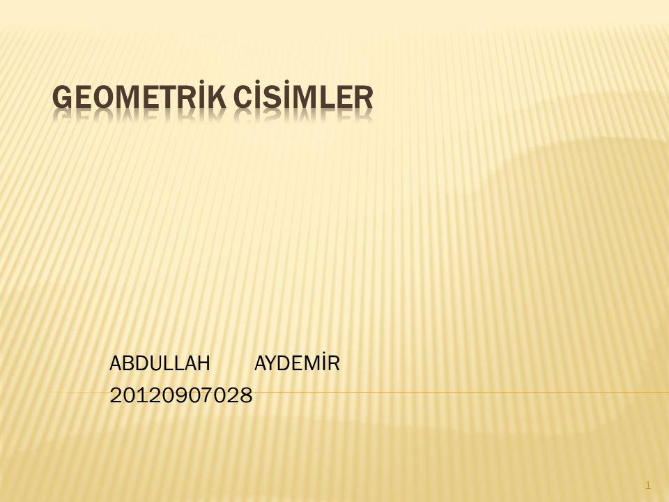 ABDULLAH AYDEMİR 20120907028 1