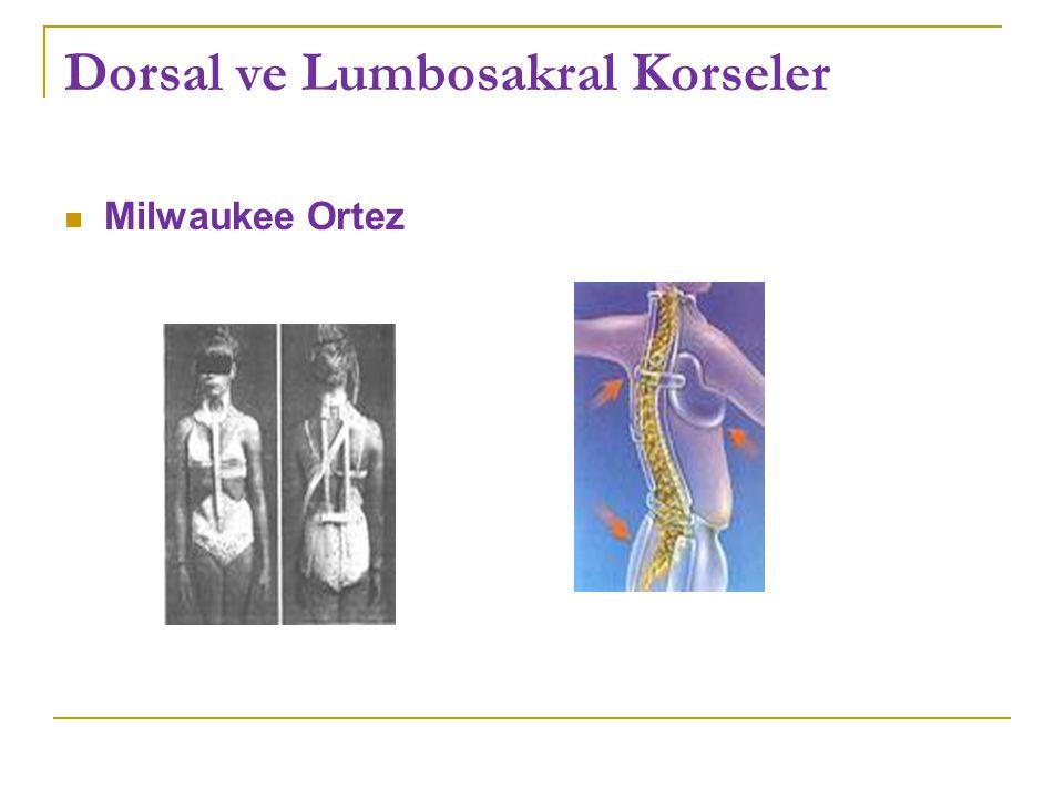 Dorsal ve Lumbosakral Korseler Milwaukee Ortez