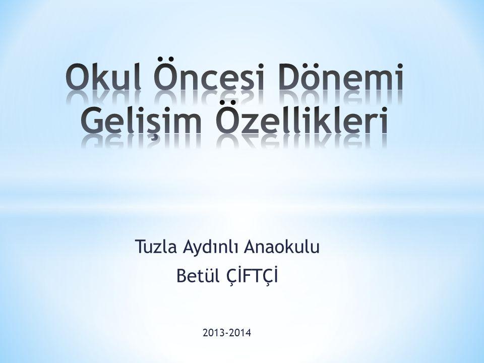 Tuzla Aydınlı Anaokulu Betül ÇİFTÇİ 2013-2014
