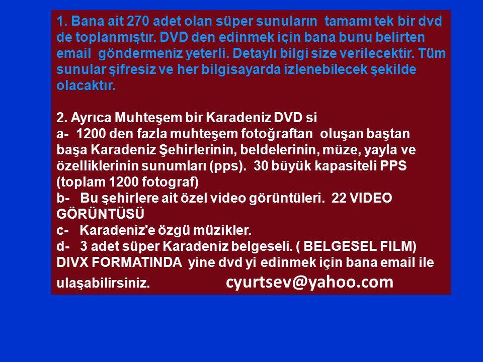 1.Bana ait 270 adet olan süper sunuların tamamı tek bir dvd de toplanmıştır.