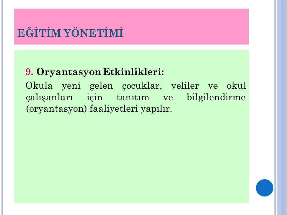 EĞİTİM YÖNETİMİ 9.