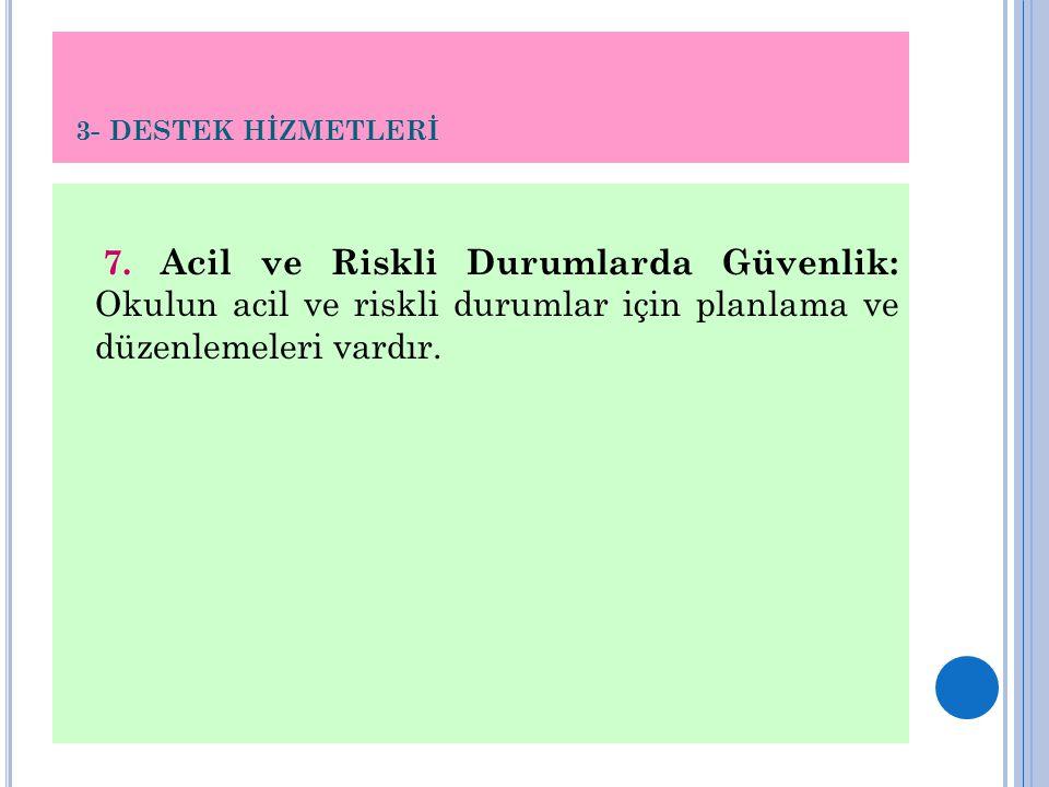 3- DESTEK HİZMETLERİ 7.
