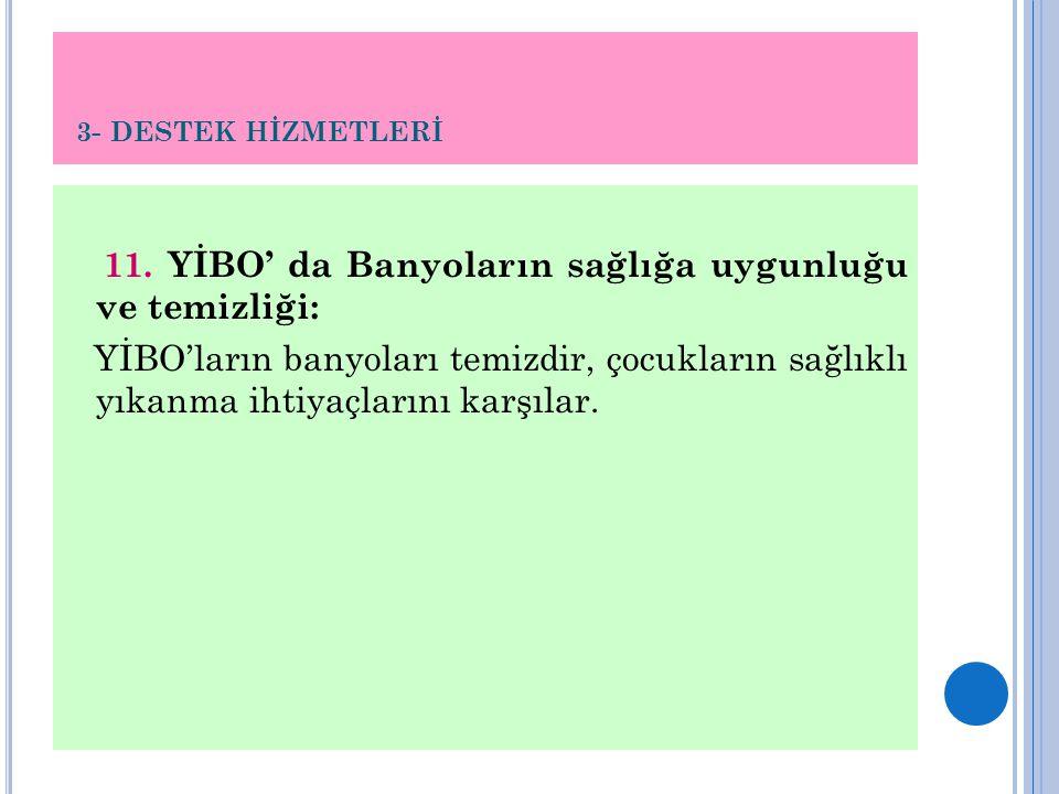 3- DESTEK HİZMETLERİ 11.