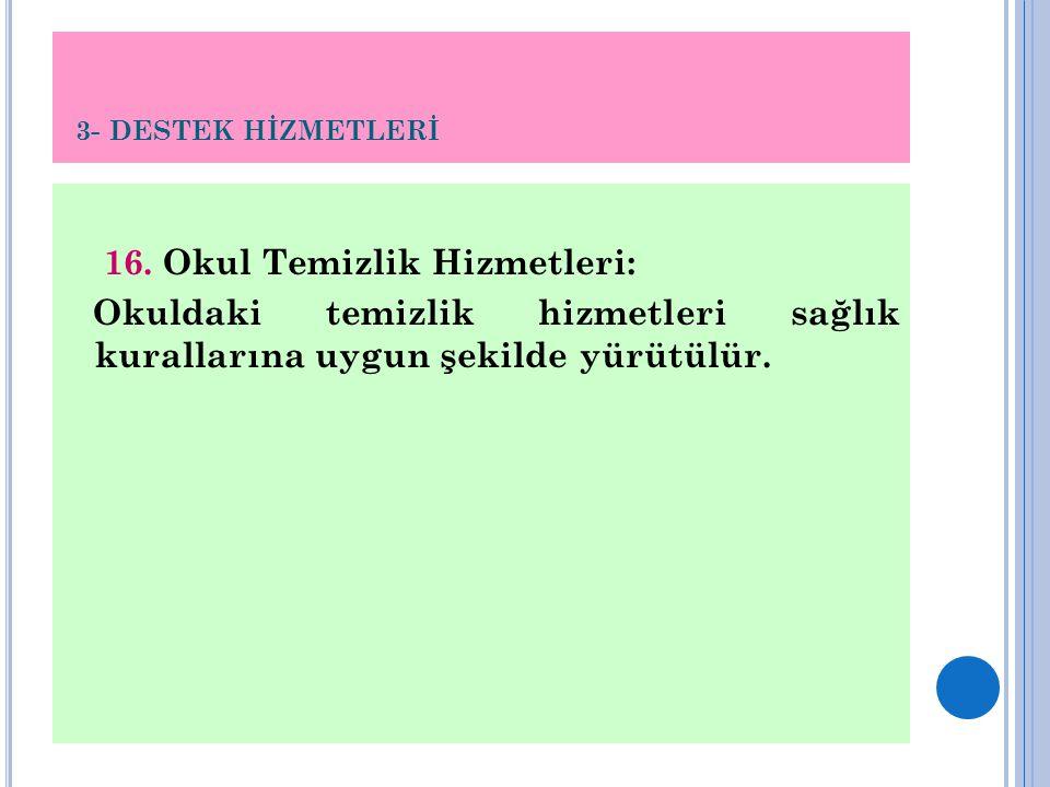 3- DESTEK HİZMETLERİ 16.
