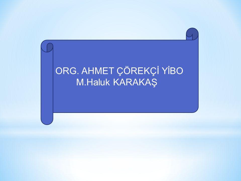ORG. AHMET ÇÖREKÇİ YİBO M.Haluk KARAKAŞ