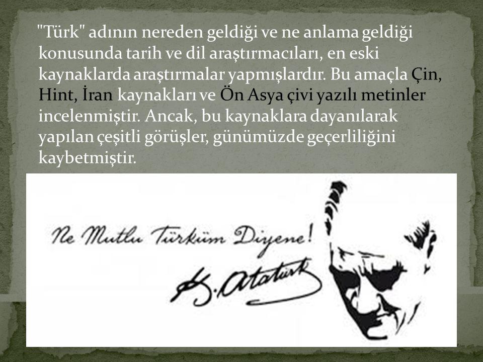 Devlet ismi olarak Türk kelimesini ilk kullanan Göktürk Devleti (Kök -Türk) olmuştur.