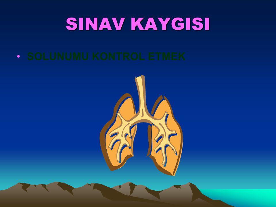 SINAV KAYGISI Vücutta daha fazla oksijen yakılmasından dolayı, öğrenme sırasında beyinde meydana gelen protein bağlarının kurulmasını sağlar. Oksijeni