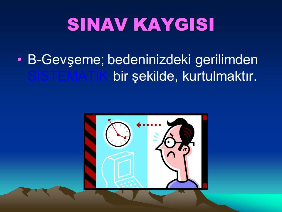 SINAV KAYGISI 3. Ciğer kapasitenizi hayali olarak ikiye bölün ve