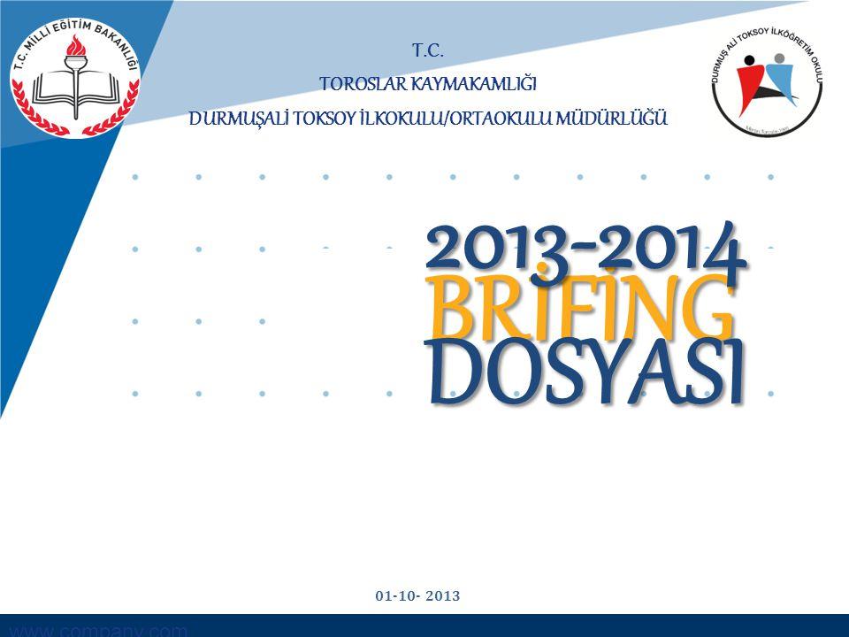 Toroslar İlçe Mili Eğitim Müdürlüğü OKUL ÖNCESİ- İLKOKUL- KURUMLARI ÖĞRETMEN SAYILARI 2011-2012 EĞİTİM ÖĞRETİM YILI2012-2013 EĞİTİM ÖĞRETİM YILI272013-2014 EĞİTİM ÖĞRETİM YILI BRANŞLARNorm KadroMevcutİhtiyaç Norm Kadro MevcutİhtiyaçNorm KadroMevcutİhtiyaç PSİKOLOJİK DANIŞMAN111110110 OKUL ÖNCESİ440440440 SINIF ÖĞRETMENİ212202122021220 İLKOKUL İNGİLİZCE000110110 TOPLAM 26271 2827 Durmuşali Toksoy İlk/Orta Okulu Müdürlüğü Brifing 2013-2014 - 12 -