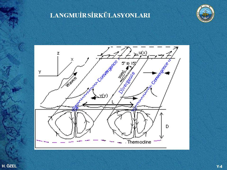 H. ÖZEL Y-4 LANGMUİR SİRKÜLASYONLARI