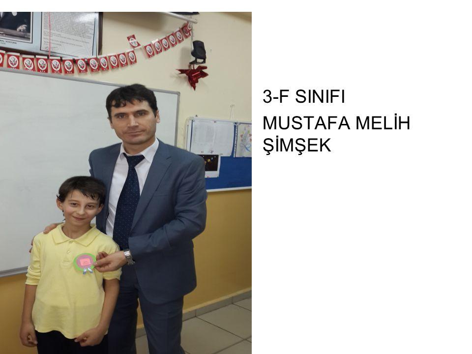 3-F SINIFI MUSTAFA MELİH ŞİMŞEK