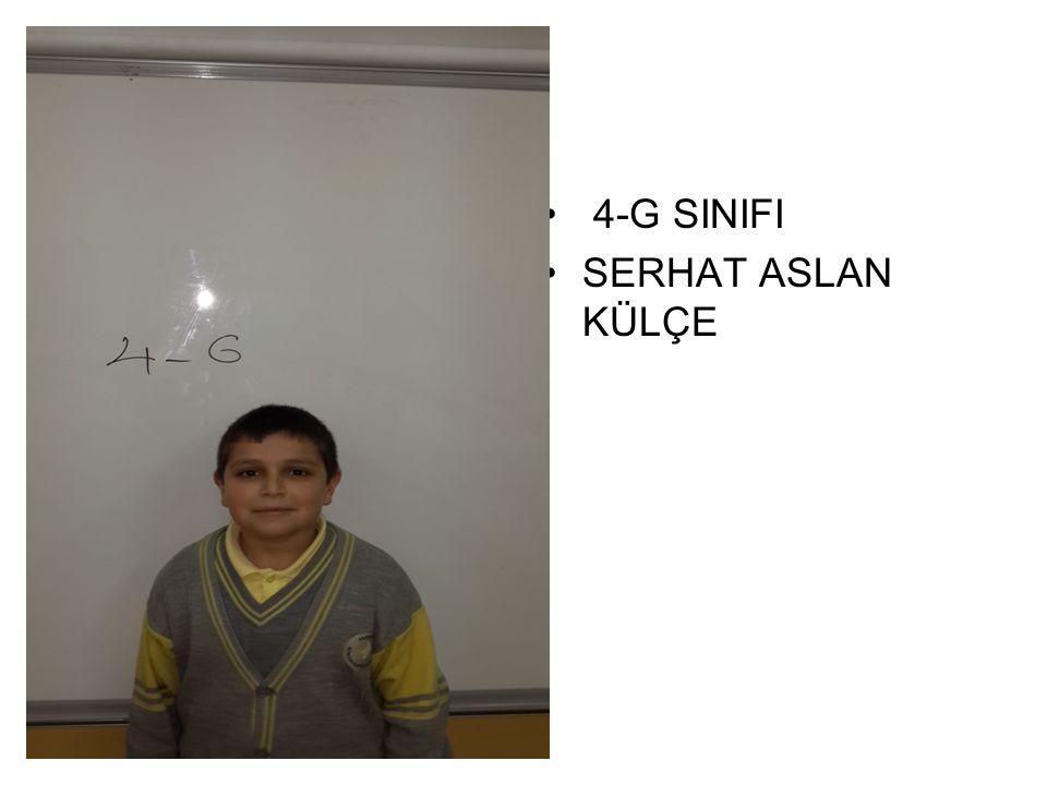 4-G SINIFI SERHAT ASLAN KÜLÇE