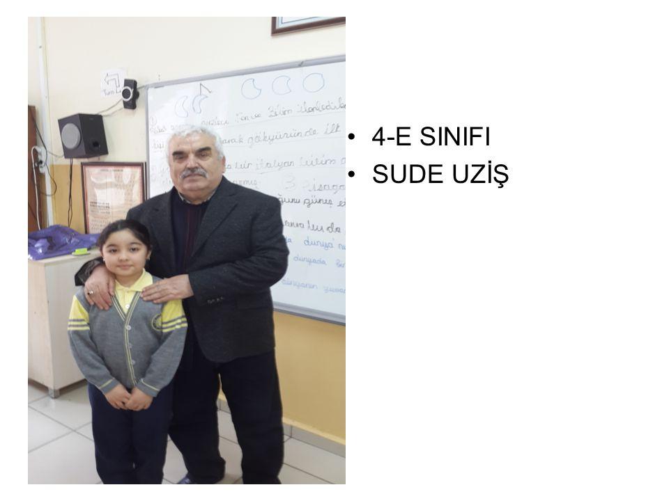 4-E SINIFI SUDE UZİŞ