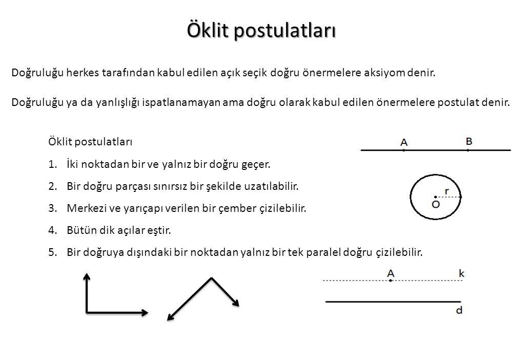 İspat biçimleri 1) İki kolonlu ispat biçimi İlk kolon ifadeler , diğer kolon gerekçeler den oluşur.