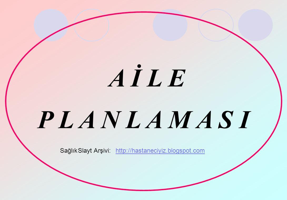 A İ L E P L A N L A M A S I SağlıkSlaytArşivi:http://hastaneciyiz.blogspot.com