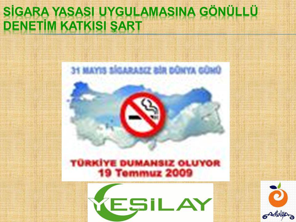  Her yıl Türkiye'de sigara ve bağlı hastalıklardan 117 bin kişi hayatını kaybetmektedir.  Dünya'da her 13 saniyede 1 kişi sigaradan ölmektedir. (BM