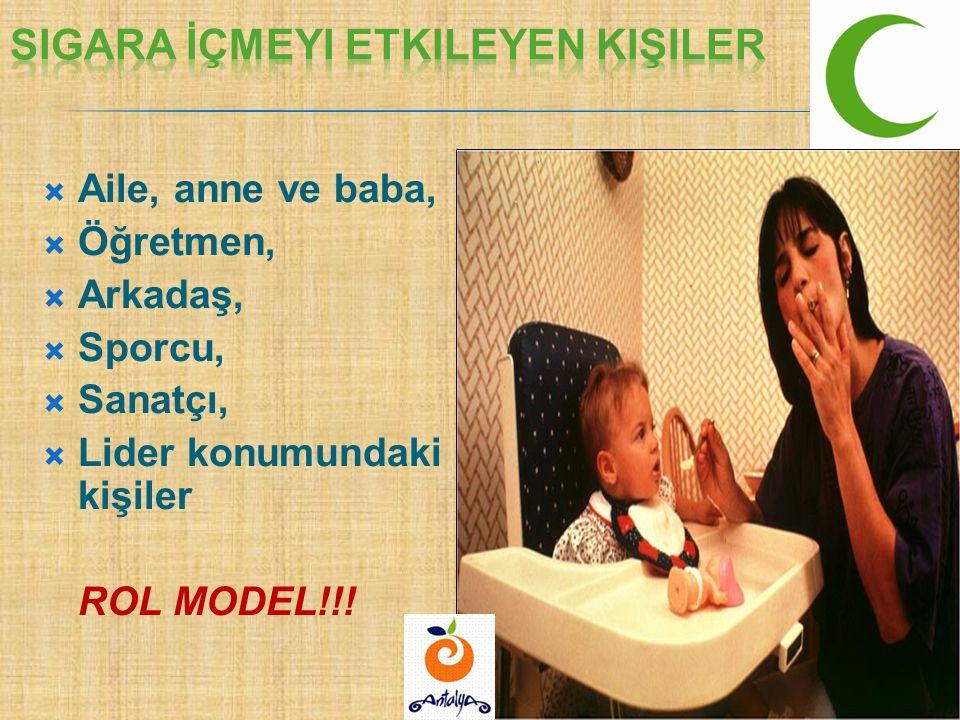  Aile, anne ve baba,  Öğretmen,  Arkadaş,  Sporcu,  Sanatçı,  Lider konumundaki kişiler ROL MODEL!!!