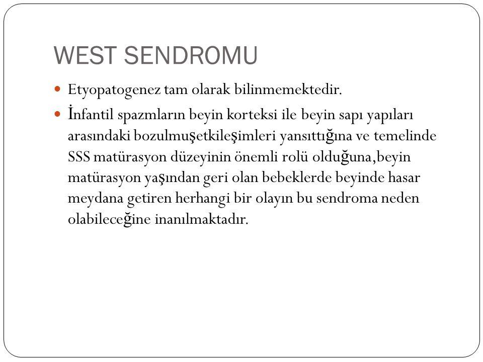 WEST SENDROMU Etyopatogenez tam olarak bilinmemektedir.