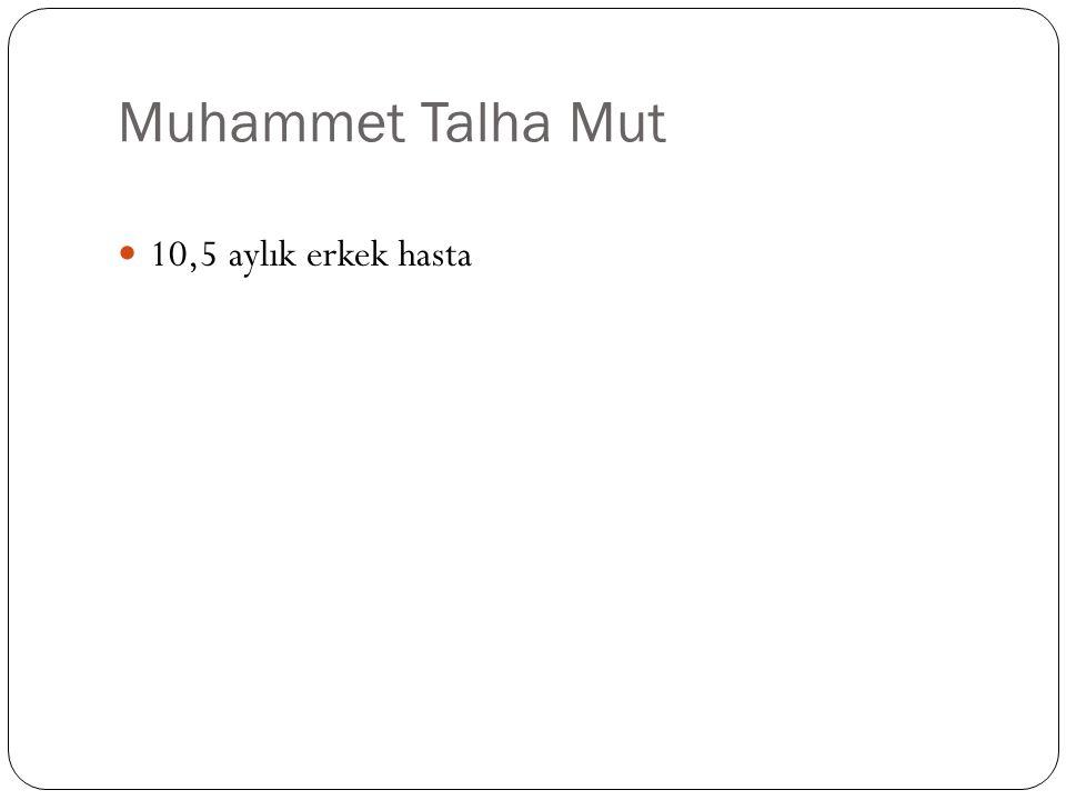 Muhammet Talha Mut 10,5 aylık erkek hasta
