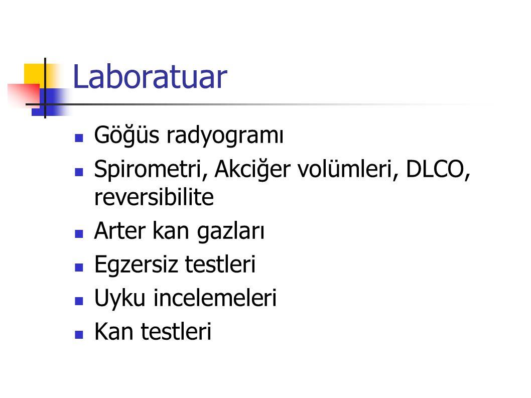 Radyoloji Genellikle normaldir.