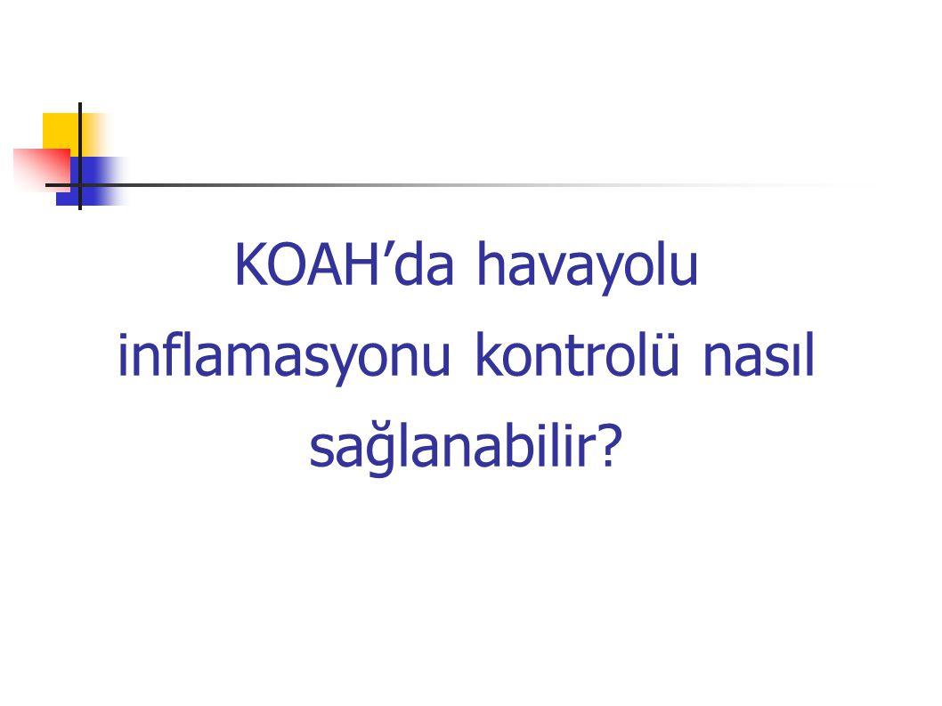 KOAH'lılarda İnhale BUD sonrası indükte balgam (1600 µg/gün 15gün) (1600 µg/gün 15gün) Keatings V.